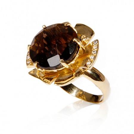 Brinco Semijoia com Pedra Natural Redonda BR5283